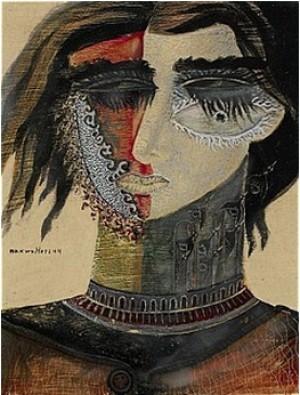 Ansiktskomposition by Max Walter 'Max Walters' SVANBERG