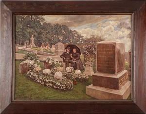 äldre Par På Begravningsplats by Herman NORRMAN