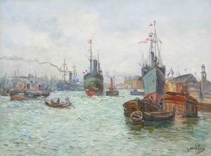 Le Port De St. Nazaire by Gustave MADELAIN