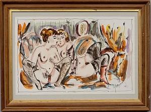 Två Kvinnor by Jules PASCIN