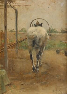 Labor - Häst Som Drar Ett Tröskverk by Nils KREUGER