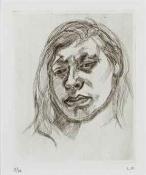 Head Of A Girl Ii (hartley 12; Figura 14) by Lucian FREUD