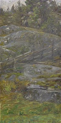 Skogsinteriör Från Morotsvik - Ornö by Johan Axel Gustaf 'Jag Acke' ACKE