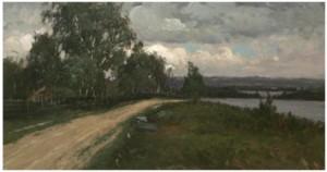 Landskap Med Väg by Anders KALLENBERG