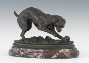 Dog And Mouse by Antoine-Louis BARYE