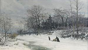 Vinterlandskap I Skymning by Johan ERICSON