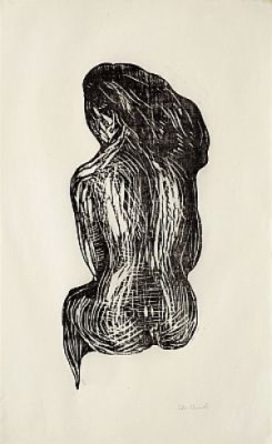 Seated Nude by Edvard MUNCH
