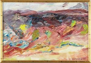 Landskap Med Gojiträd by Georg LODSTRÖM