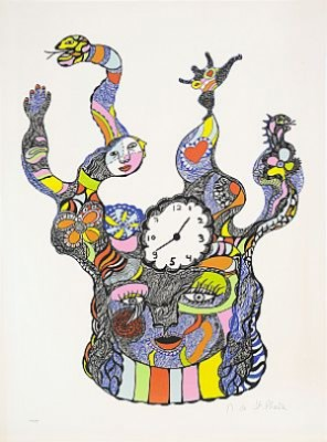 The Clock Face by Niki De SAINT-PHALLE
