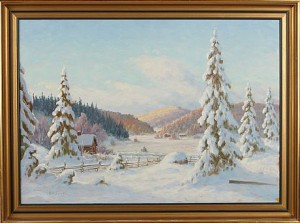 Vinterlandskap by August Emanuel 'Manne' HALLENGREN