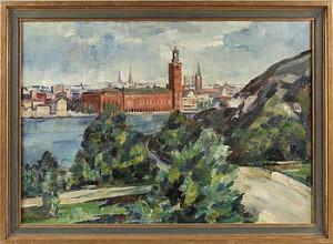 Vy Mot Stockholms Stadshus by Emil HELLBOM