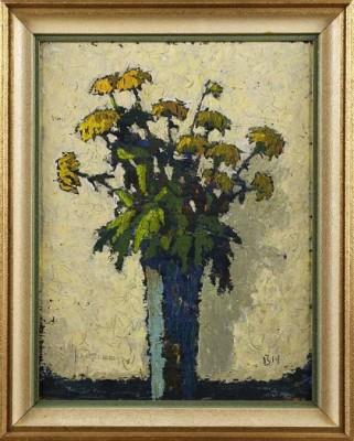 Stilleben Med Gula Blommor by Birger HALLING