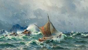 Stormigt Hav by Herman Af SILLÉN