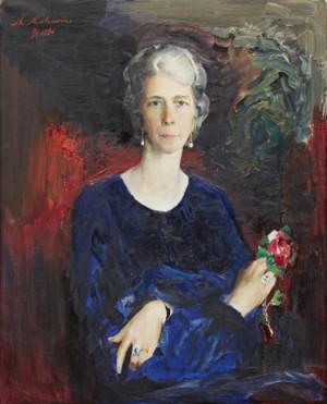 Portrait Of Mina Sederholm, Born Sjöcrona by Filip Andreevich MALIAVIN