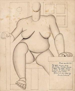 Sittande Kubistisk Kvinna by Otto G. CARLSUND