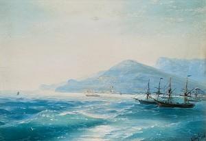 Ships Near The Coast by Ivan Konstantinovich AIVAZOVSKY