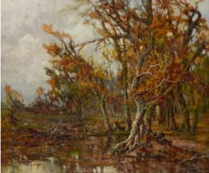 Autumn Landscape by Mikhail Dimitrievich YANKOV