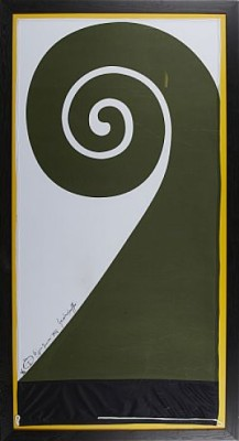The Koru Flag by Friedensreich HUNDERTWASSER