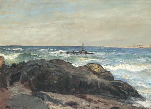 Kustlandskap by Alfred WAHLBERG