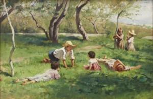 Barn I Grönska by Georg PAULI