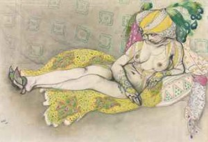 The Yellow Sultana by Léon BAKST