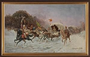 Vintertrojka by Adolf Constantin The Elder BAUMGARTNER