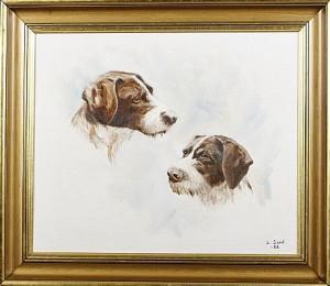 Hundporträtt Vorsteh by Lennart SAND