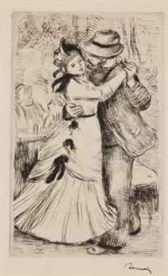 La Danse à La Campagne, 2e Planche (delteil, Stella 2) by Pierre Auguste RENOIR