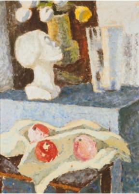 Stilleben Med Staty by Agnes CLEVE