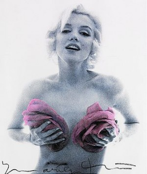 Marilyn With Pink Roses by Bert STERN