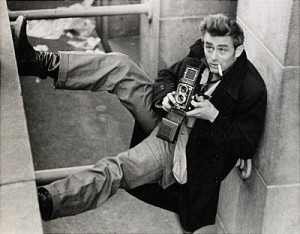 James Dean (with Rolleiflex) by Roy SCHATT