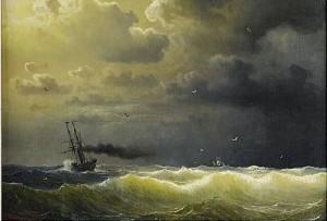 ångfartyg I Storm by Marcus LARSON