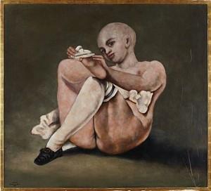 Flicka Med Strumpa by Zoltan Von BOER