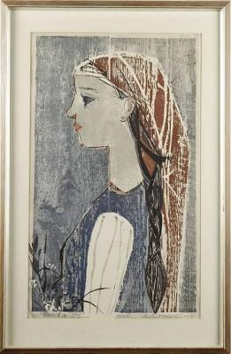 Flicka Med Fläta by Paul René GAUGUIN