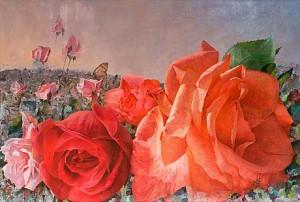 Blomsterlandskap by Maria BOCZEWSKA