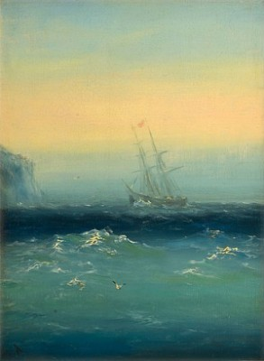 Morning Mist By The Shore by Ivan Konstantinovich AIVAZOVSKY