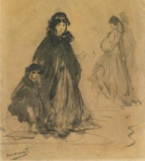 Scène De Rue (femme Et Jeune Fille) by Edouard MANET