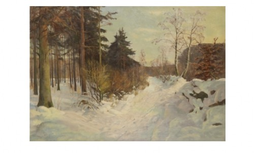Solig Vinterdag by Harald PRYN