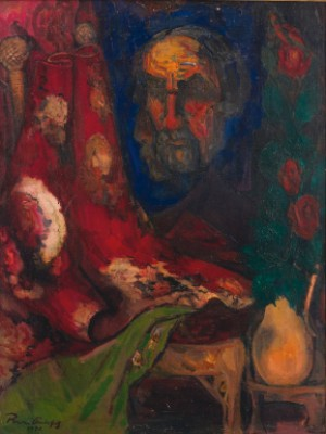 Reflection (self-portrait) by Boris Israelovich ANISFELD