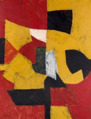 Composition (jaune, Rouge, Noir, Blanc) by Serge POLIAKOFF