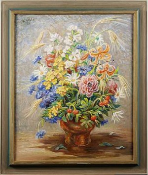 Solfylld Blomsterbukett by Per-Hilding PERJONS