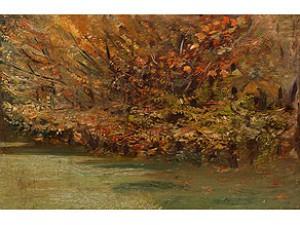 Herbstliche Landschaft by Giuseppe De NITTIS