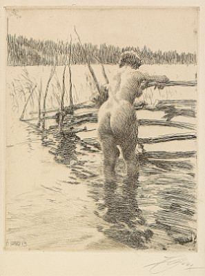 Gärdesgård by Anders ZORN