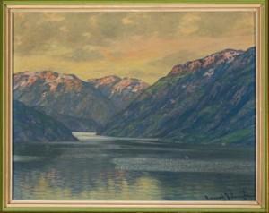 Parti Av Geirangerfjorden by Conrad SELMYHR