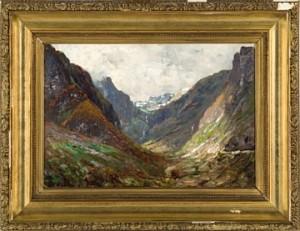 Fjellandskap by Georg Anton RASMUSSEN