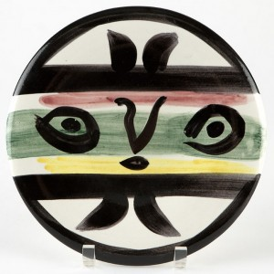 Madoura Ceramic Plate, Face No. 101 by Pablo PICASSO