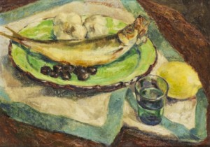 Nature Morte Au Poisson by Georges Anatolievich POGEDAIEFF