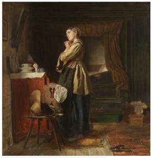 Flicka Framför Spegeln by Ferdinand FAGERLIN