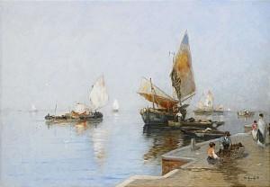 Vy över Lagunen, Venedig by Wilhelm Von GEGERFELT