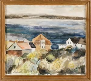 Kustlandskap Med Hus by Lennart ROSENSOHN